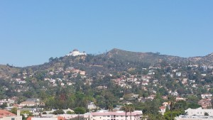 View from Barnsdall Park to Observatory